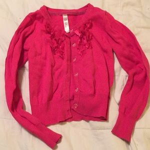 Cherokee Cardigan Size M (7/8) Hot Pink